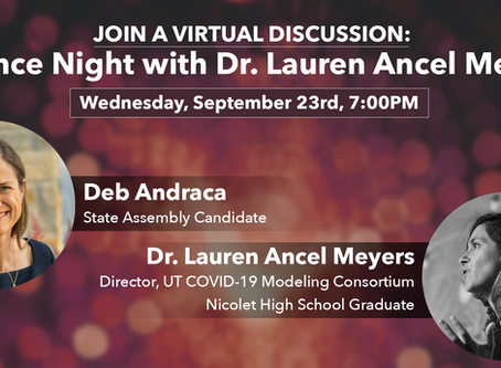 Science Night: A Conversation with Dr. Lauren Ancel Meyers and Deb Andraca