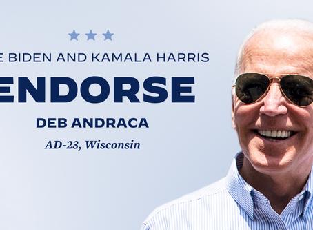 Andraca Endorsed by Vice President Joe Biden and Senator Kamala Harris