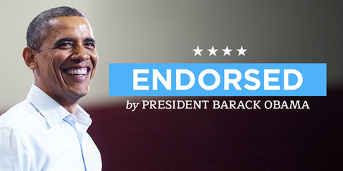 Endorsed by President Obama