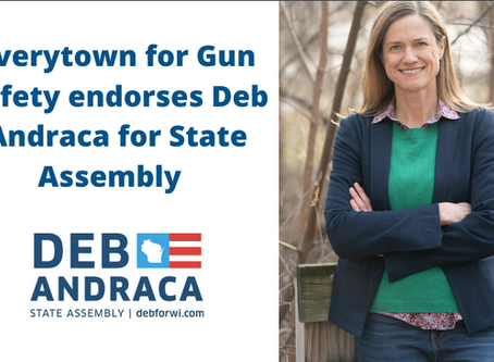 Deb Andraca Receives Endorsement of Everytown for Gun Safety