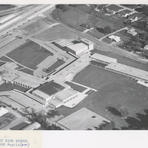 Plans, photographs, and a model of Nicolet High School were displayed in an international exhibition of excellence in school design. The exhibition was held in Geneva, Switzerland in 1957. Courtesy of the Milwaukee County Historical Society.