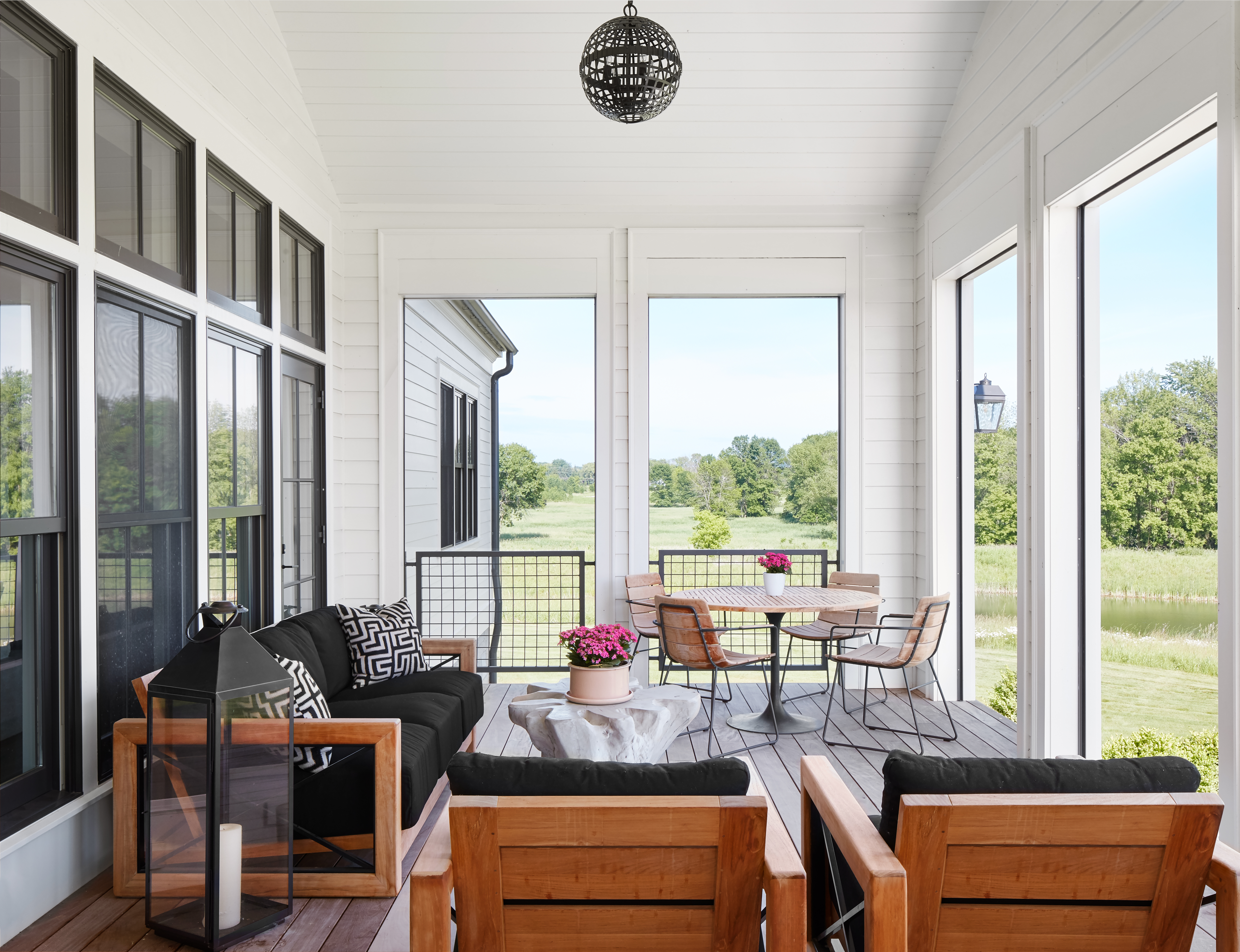 Modern Farmhouse Screen Porch