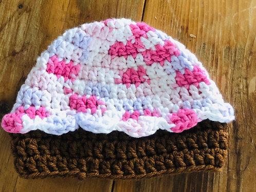Baby Cupcake Hat Pink/Lavender/White Multi