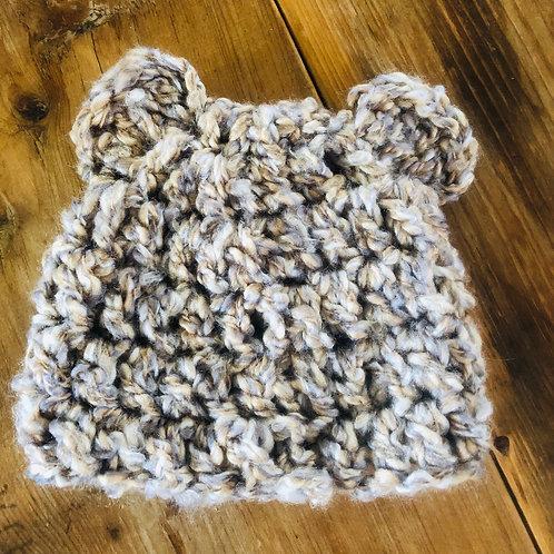 Bear Baby Hat Tan/Grey