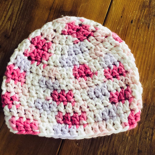 Baby Hat Pink/Lavender/White Multi