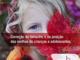 Correção estética das orelhas para crianças e adolescentes.