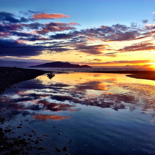 "A4 "" Satin sand and Silken Sea"""