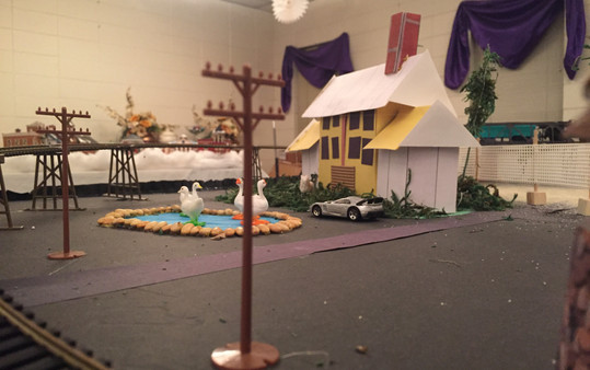 Added ducks and swans to the farmhouse pond. Also, the farmhouse owner has a Lamborgini.