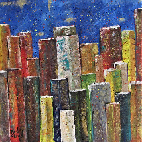 """Abstract Acrylic on Canvas """"Monoliths"""""""