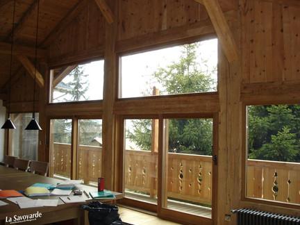 Grande baie vitrée coulissante