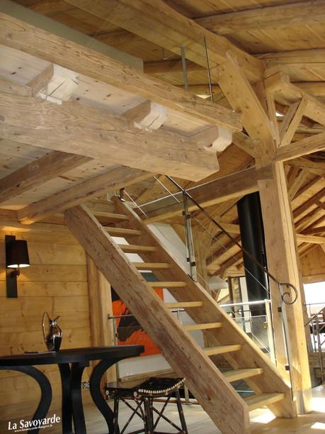 Escaliers bois echelle