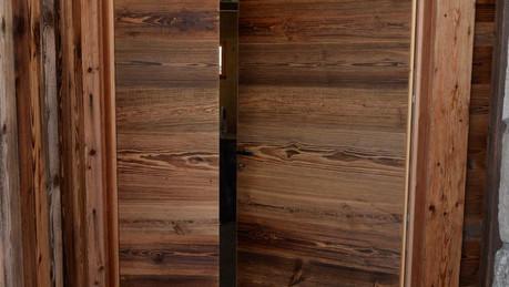porte d'entrée vieux bois