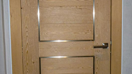Porte avec insert inox