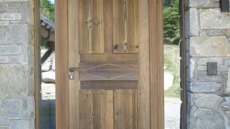 Portes entrée avec impostes latérales vitrées