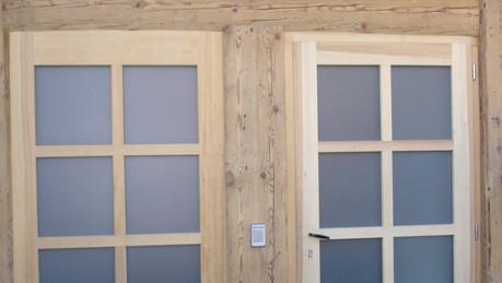 Portes vitrées à petits bois