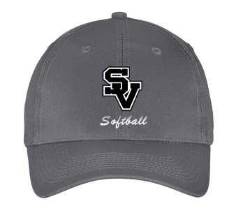 Adjustable Port and Company Cap-SV with softball writing design
