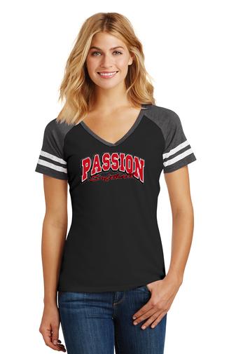 Passion-Ladies Game Day V-Neck Shirt