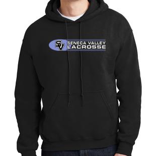 Hooded Sweatshirt-Oval Lacrosse Logo