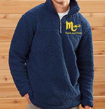 Unisex 1/4 zip Sherpa Pullover-Sewn Mars T&F