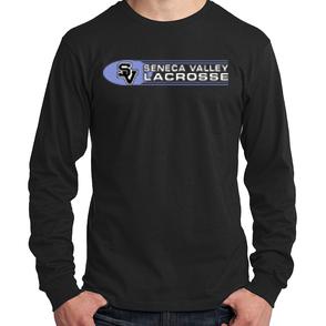 Long Sleeve Shirt-Oval Lacrosse Logo
