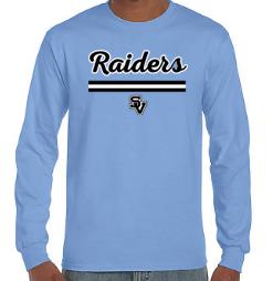 Long Sleeve Shirt-Script Raiders