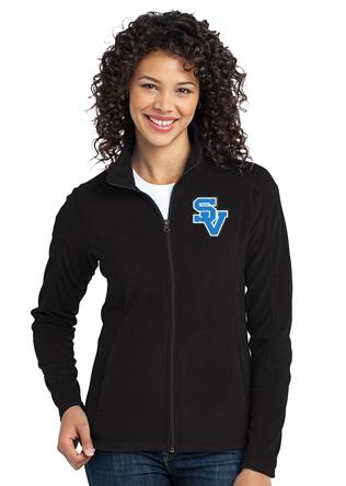 Women's Full Zip Fleece Jacket-SV Logo