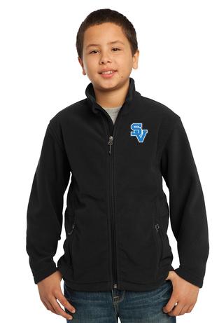 Youth Full Zip Fleece Jacket-SV Logo