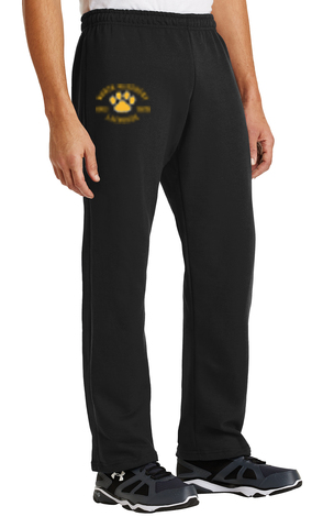 Printed Open Bottom Sweatpants-NAGYLAX Design