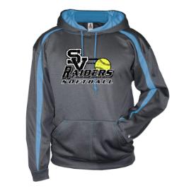 Badger Fusion Performance Hoodie-SV Softball Design
