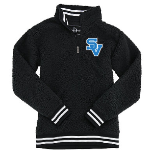 Unisex 1/4 zip Sherpa Jacket-SV Design