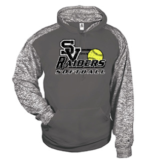 Badger Tonal Performance Hoodie-SV Softball Design