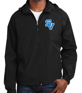 Sport Tek Hooded Water Proof Jacket-SV Logo