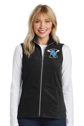 Women's Full Zip Fleece Vest-SVGLAX Design