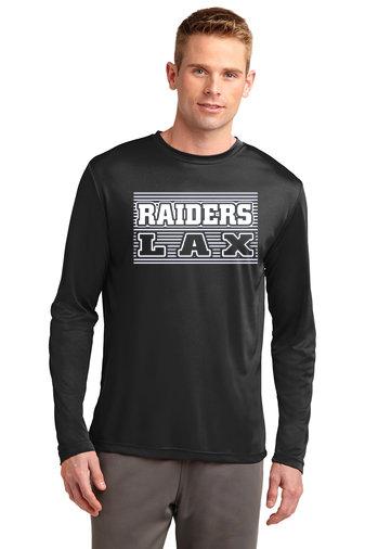 Long Sleeve Dri Fit Shirt-Striped LAX Design
