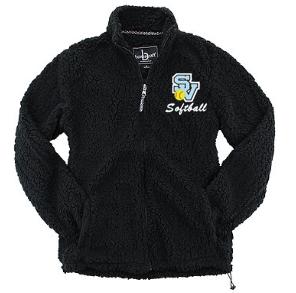 Ladies Full Zip Sherpa-SV Softball Design