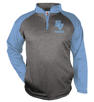 Badger Sport Quarter Zip-SV Tennis