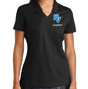 Women's Nike Polo-SV with script softball Design