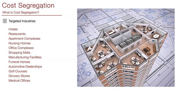 What is Cost Segregation slide Targeted