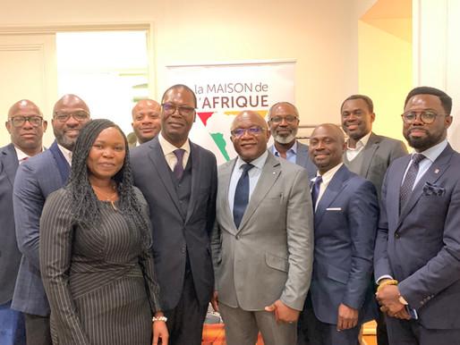 Cérémonie post Conseil d'Administration de La Maison de l'Afrique