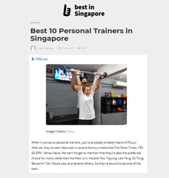 Best in Singapore - Best 10 Personal Trainers in Singapore