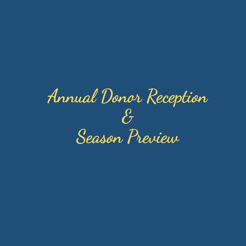Annual Donor Reception & Season Preview