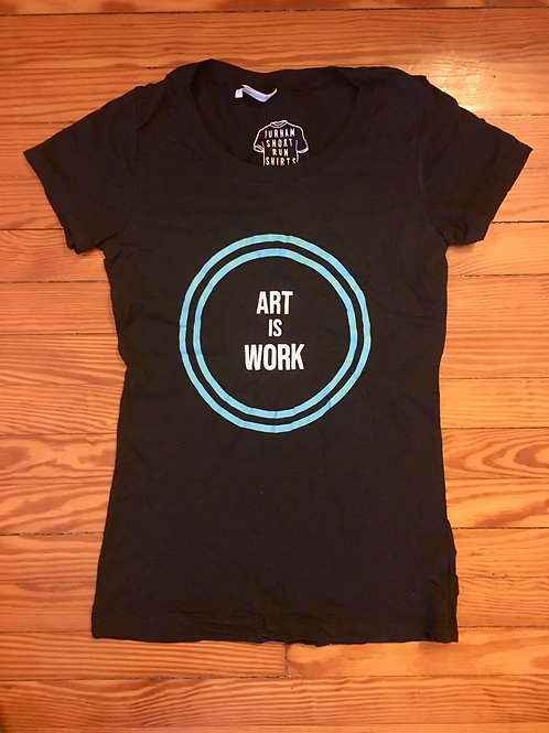 ART IS WORK fitted tee