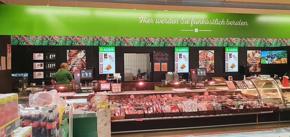 ADEG Screen Feinkost Display Infomonitor Lebensmittel Einzelhandel Display Digital Signage