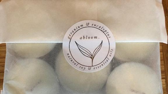 abloom Tealight Candles (geranium & eucalyptus)