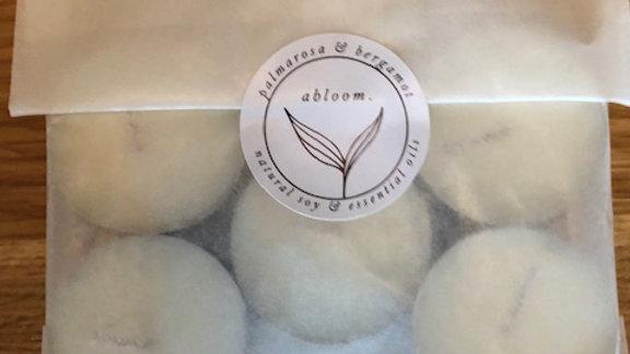 abloom Tealight candles (palmarosa & bergamot)