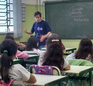 palestra astronomia escola pública privada particular alunos sistema solar clube de astronomia centauri