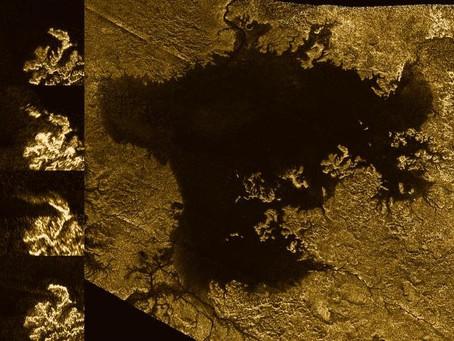 Os mares efervescentes de Titãn