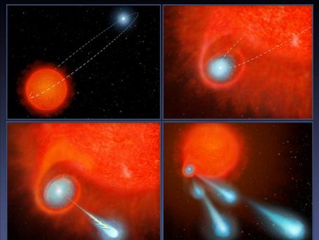 Estrelas apagando, erupção de plasma e belas nebulosas