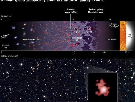 Hubble quebra recorde cósmico da Galáxia mais distante