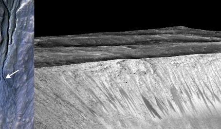 Como nós sabemos que existe água líquida na superfície de Marte?